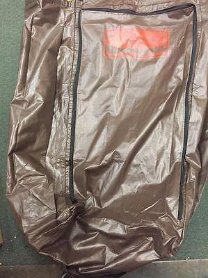 Rubbermaid Vinyl Replacement Bag Brown 4 Maid Cart Zippered Housekeeping Hotel