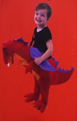 Boys Toddler Walking Ride In DRAGON Halloween Costume Red Animal 3 4 3T 4T NEW](3t Animal Halloween Costumes)