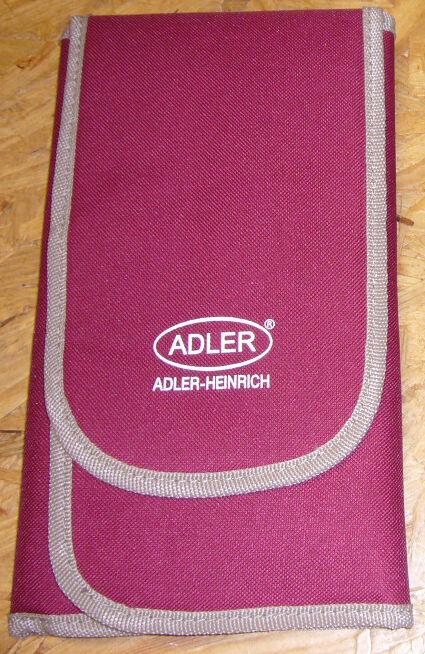 Flötentasche: hochwertige rote Tasche von Adler Heinrich für Altblockflöten--NEU