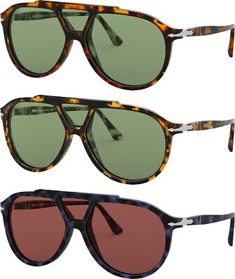 Persol Polarized Men's Pilot Sunglasses w/ Tempered Glass Lens PO3217SP - Italy