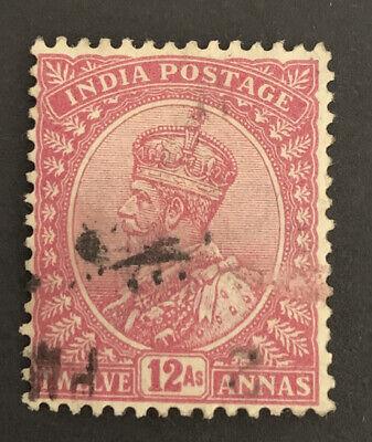 1912 India 12a Claret FU Stamp SG 184