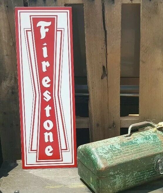 Antique Style Firestone Sign Vintage Look hot rod garage art old school