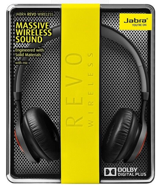 Jabra Revo Wireless Bluetooth On-Ear Headphones With Mic Bla