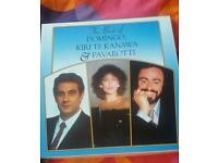 The best of Domingo, Kiri Te Kanawa and Pavarotti lp, vinyl box set. New