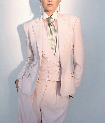 Pink Women Ladies Custom Made Business Office Tuxedos Formal Work Wear New Suits