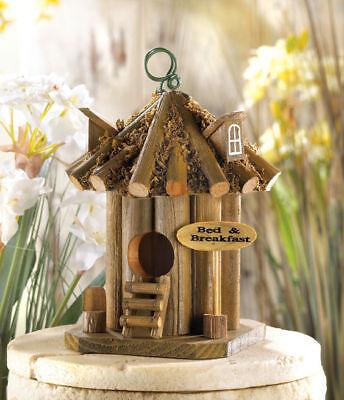 Bamboo Tiki Hut (Bed & Breakfast beach Inn bamboo tiki hut Folk Art fairy Bird house birdhouse )