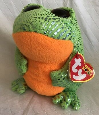 TY BEANIE BOO  SPECKLES THE FROG  MWMT IN HAND   6 INCHES 2014