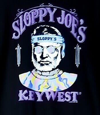 Vintage 1993 Sloppy Joes 93 Halloween Sz LARGE Single Stitch T-shirt Key West A1