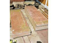 Concrete sectional garage panels