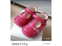 Clarks girls first shoes 3.5g