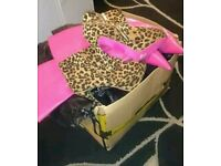 Box of shoes and bags