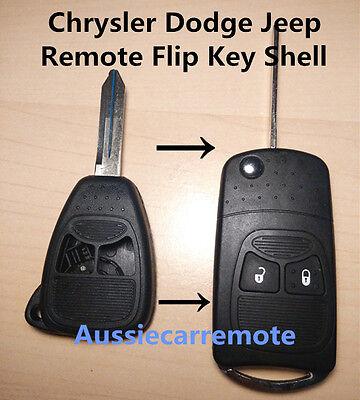 Chrysler Dodge Jeep Remote 2  Button Flip Key Shell
