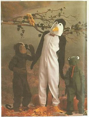 Simplicity Sewing Pattern Halloween Costume 6670 Penguin Frog Monkey Child 10-12](Baby Monkey Halloween Costume Pattern)