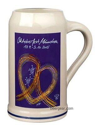 2005 Munich Oktoberfest Stein - 1 Liter - Stocked in the USA by Beer Gear - NIB
