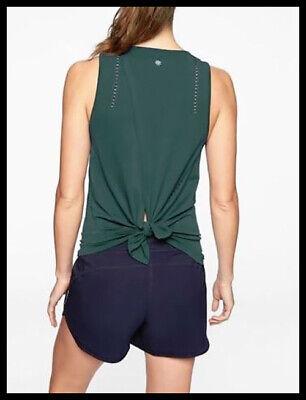 Athleta NWT Women's Foothill Tank Size XSmall Color Dark Jade