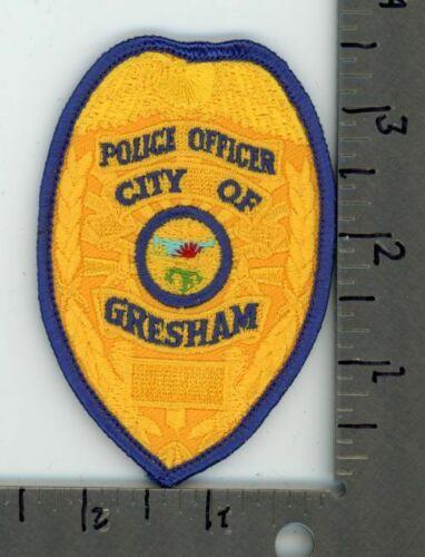 OREGON OR GRESHAM POLICE NEW PATCH SHERIFF