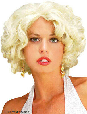 Ladies Short Blonde Wig Hollywood Marilyn Star Fancy Dress Costume Party New ](Hollywood Stars Costumes)