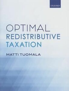 Optimal Redistributive Taxation by Matti Tuomala (Hardback, 2016)