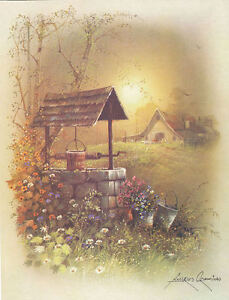 ANDRES ORPINAS Wishing Well Old barn, flowers