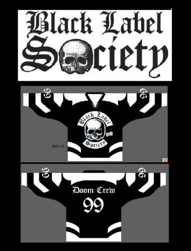 BLACK LABEL SOCIETY Hockey Jersey sz 44 M MEDIUM bls zakk wylde shirt