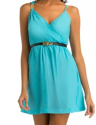 Kim Kardashian Kollection Light Blue Dress XL Large Greek Goddess Gold Bar ](Gold Greek Dress)