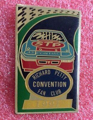 Pins RICHARD PETTY Pilote De Voiture NASCAR CONVENTION FAN CLUB 1991 PONTIAC