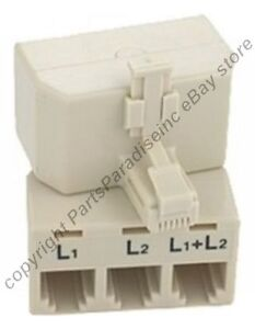 L1-L2-L1-L2-multi-2-line-cord-wire-cable-Phone-Telephone-number-Splitter-Adapter