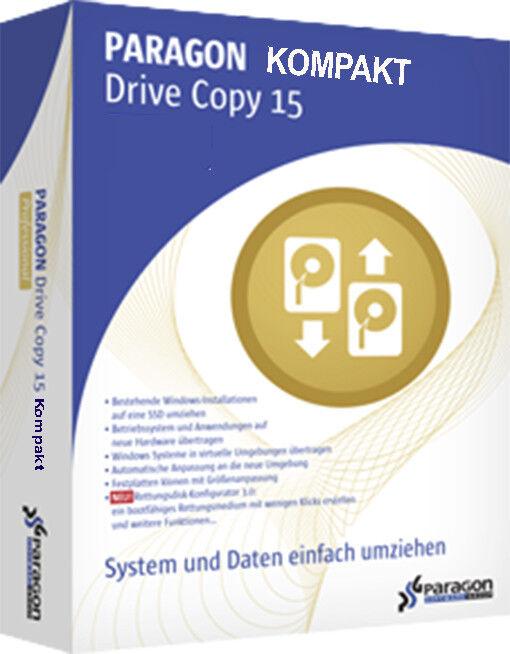 Backup-Paragon Drive Copy 15 Kompakt / 1x PC/ Deutsch