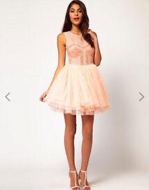 ASOS Prom/Wedding/Evening Dress with Embellished Bodice size 10