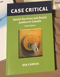 Case critical Social Services and Social Justice in Canada Kitchener / Waterloo Kitchener Area image 1