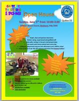 OPEN HOUSE AT GARDERIE TWEETOONS!