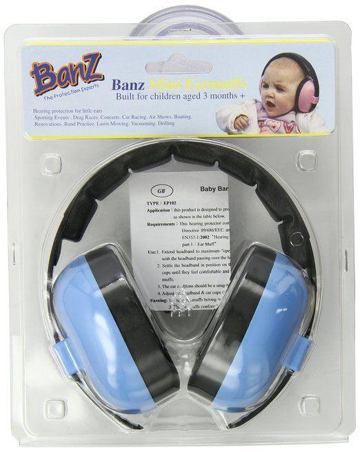 Baby Banz Earmuffs Baby Blue 0-2 years New