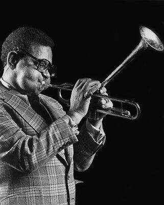 Jazz Trumpet DIZZY GILLESPIE Glossy 8x10 Photo Music Print Entertainment Poster