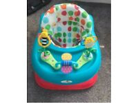 Babylo Bizzy Bee Height Adjustable Polka Dot Walker