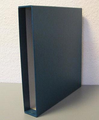 LINDNER, Schutzkassette 810 BY, für Ringbinder, blau, gebraucht