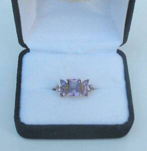 NEW - Solid 10k Gold - Amethyst dress ring - Size 7¾ Minmi Newcastle Area Preview