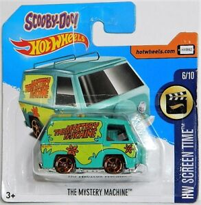 Hot Wheels 1/64 Scale Scooby Doo Mystery Machine Diecast Car