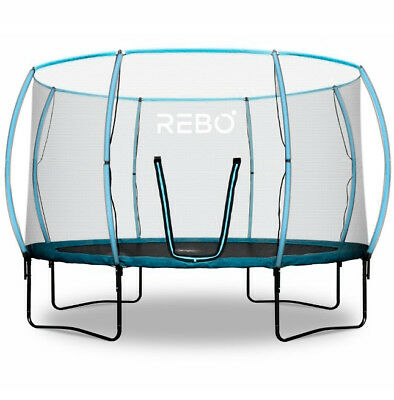 Rebo Jump Zone Trampoline With Halo Safety Enclosure - 4 Sizes