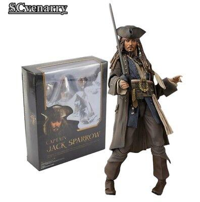 Pirates the Caribbean Captain Jack Sparrow PVC Action Figure Collectible Model d'occasion  Expédié en Belgium