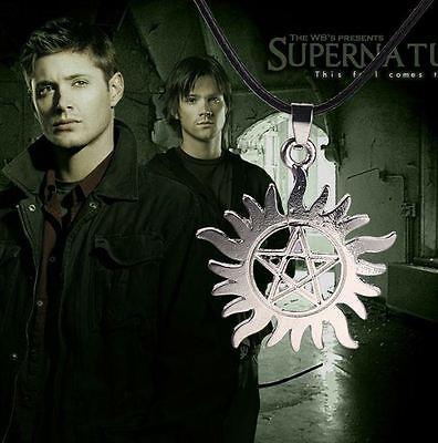 Supernatural Halskette Pentagramm Sonne Winchester Amulett Schmuck Kette
