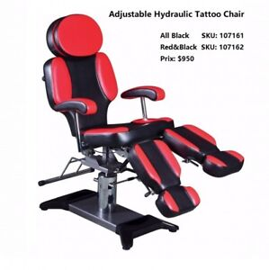 Neuf Adjustable Hydraulic Tattoo Chair(tout noir disponible)
