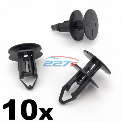 10x 8mm Push Fit Plastic Clips- Renault Kadjar Grille & Wheel Arch Lining Clips