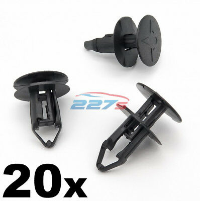 20x 8mm Push Fit Plastic Clips- Renault Kadjar Grille & Wheel Arch Lining Clips