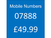 Memorable Mobile Numbers - 07888 - Unused and Uncirculated.