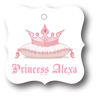 24 Pink Princess Tiara Girl Baby Shower Favor Tag - Princess Tiara Favors