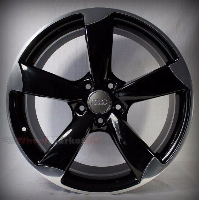 "NEW 19"" Inch Audi Rotor Alloy Wheels Black EDITION A3 A4"