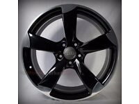 "NEW 19"" inch Audi Rotor Alloy Wheels Black EDITION A3 A4 A5 A6 RS3 RS4 RS5 RS6 S5 S6 S3 S4 z2sda1lmk"