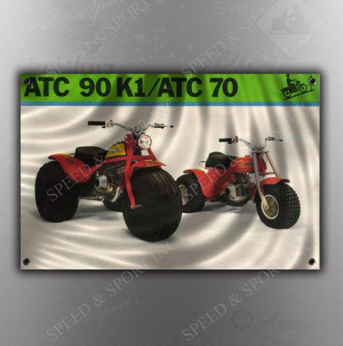 graphic sticker 78/' 1978 honda ATC 90 K2 ATV rear vintage decal