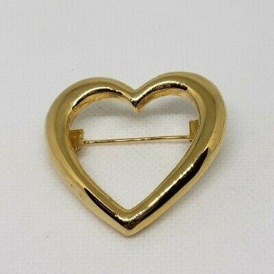Women's Open Heart Brooch Pin Gold Tone Fashion Jewelry Unbranded Career Casual  Open Heart Fashion Pin