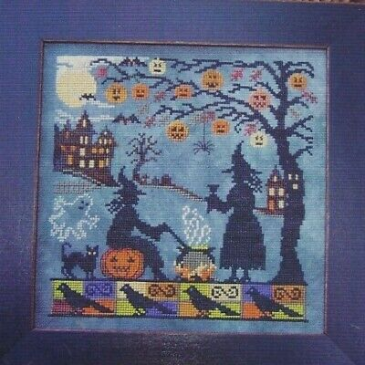 WITCH'S NIGHT OUT--Pumpkin Tree--Cauldron-Halloween-Counted Cross Stitch Pattern